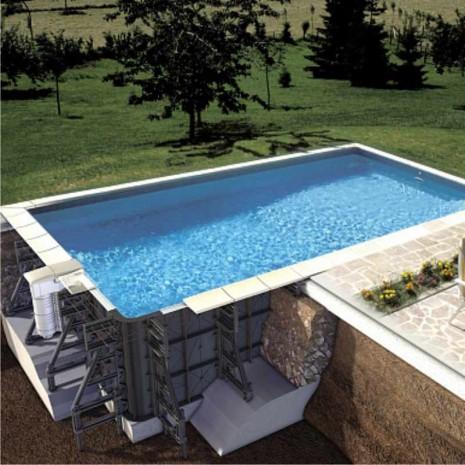 Пластиковый быстроразборный бассейн 8.5 X 4.5 X 1.5 М (30906302)