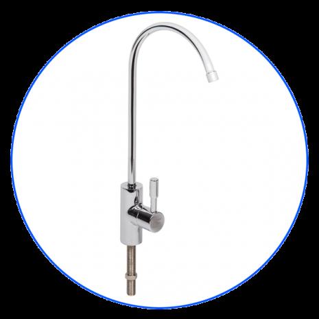 Одинарный хромированный смеситель в стиле модерн с керамическими клапанами (FXFCH17-C)