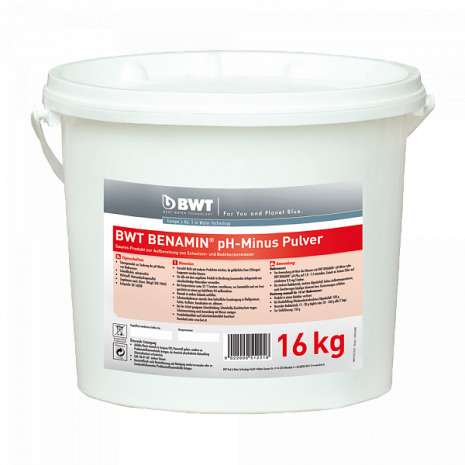 BWT BENAMIN pH-Minus Pulver в кранулах (16 кг) (351221)
