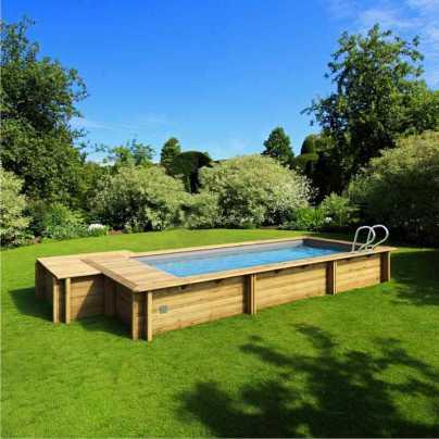 Деревянный бассейн  URBAN 6,0X2,5 с отсеком для оборудования   (27180214)