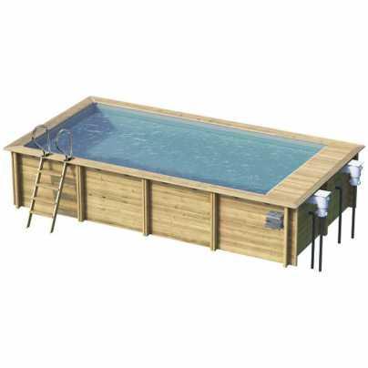 Деревянный бассейн  URBAN 6,5X3,5 с защитным накрытием (27184218)