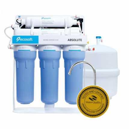 Фильтр обратного осмоса Ecosoft Absolute с помпой на станине MO550PSECO