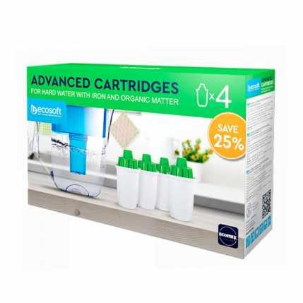Комплект улучшенных сменных картриджей 3+1 Ecosoft к фильтрам-кувшинам CRVK4ECO