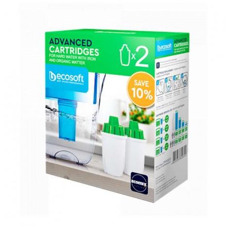 Комплект улучшенных сменных картриджей 2 шт. Ecosoft к фильтрам-кувшинам CRVK2ECO