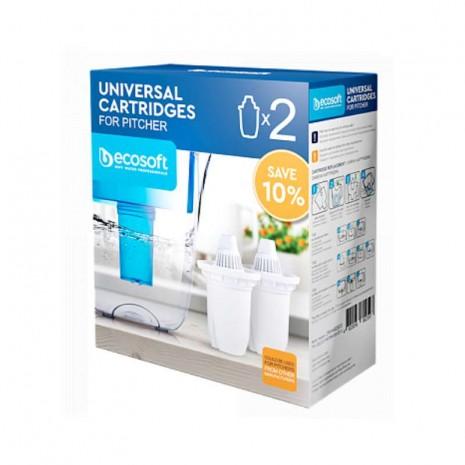 Комплект универсальных картриджей 2 Ecosoft к фильтрам-кувшинам CRVKAB2ECO