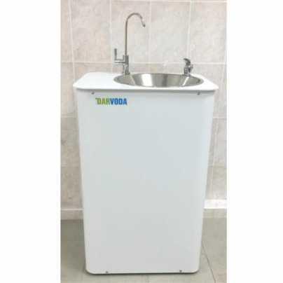 Питьевой фонтанчик DARVODA ПФ-1-4КХ с охлаждением и нагревом  воды, белый (ПФ-1-4КХH)