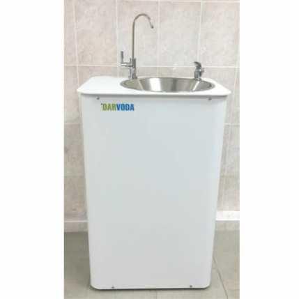 Питьевой фонтанчик DARVODA ПФ-1-4КХ с охлаждением воды, белый (ПФ-1-4КХ)