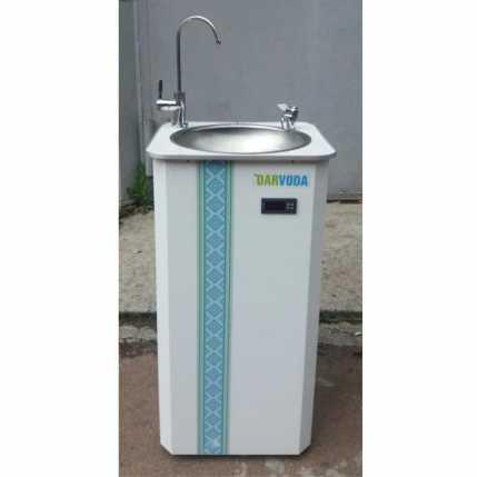 Питьевой фонтанчик DARVODA ПФ-1-4КХ с охлаждением  воды, белый  c узором (ПФ-1-4КХУ)