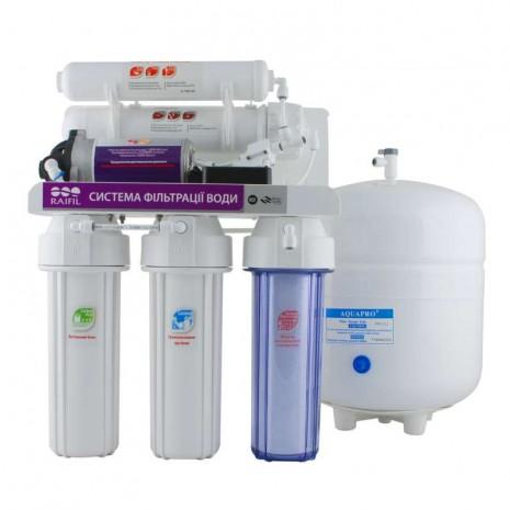 5-ти стадийная система очистки воды GRANDO5 + с насосом RO905-550BP-EZ