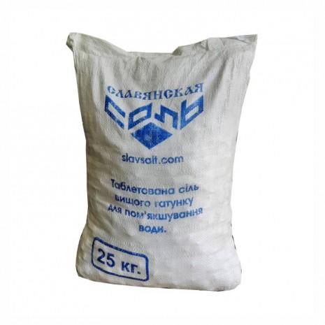 Таблетированная соль Экстра для водоподготовки в мешках 25 кг